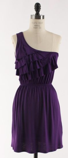 Adabelle's  - The Ruffle and Flow Dress in Purple, $39.00 (http://www.adabelles.com/the-ruffle-and-flow-dress-in-purple/)