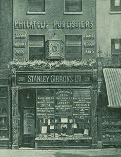 Stanley Gibbons, founded in on the late-Victorian Strand. Images from the Stanley Gibbons website. Victorian London, Victorian Photos, Vintage London, Old London, East London, Vintage Shops, Victorian Era, Store Signage, London History