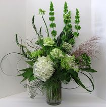 Vase arrangement, whites and greens Altar Flowers, Church Flowers, Funeral Flowers, Silk Flowers, Wedding Flowers, Winter Floral Arrangements, Large Flower Arrangements, Funeral Flower Arrangements, Centerpiece Decorations