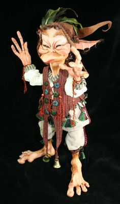 OOAK Art Doll Fiddlesticks by monstersculpter on Etsy, $975.00