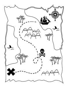 FREE Printable Pirate Map - a fun coloring page for the kids! { lilluna.com }