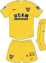 UCAM Murcia of Spain away kit for 2016-17.