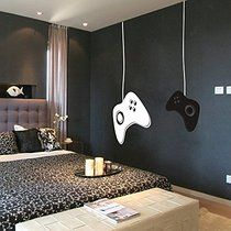 MairGwall Game Controllers Wall Decal - Gamer Wall Decal Vinyl Wall Mural Sticker Game on Decal