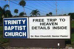 Church message board