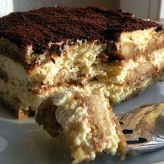 I got this recipe for authentic tiramisu from my cousin in Italy when I was ten years old. I have been making it for over 25 years and it hasn't failed me yet. People always tell me that it's the best tiramisu they have ever eaten and they always ask for the recipe.