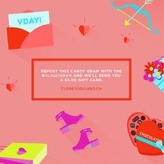 ClosetCollabo.ca — Illustrative Valentine's day Promo piece