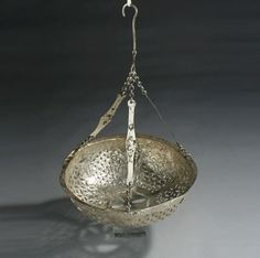 Aboutaams present: Byzantine Silver Suspension Lamp in Open Work Technique