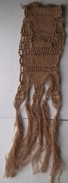 Natural twine macrame wall hanging via Etsy