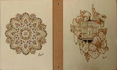 Mandala - Gabbia Contenitore con anelli cover in pioppo 32x24