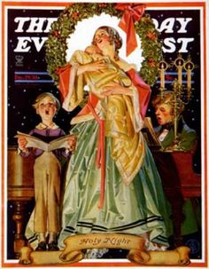 Saturday Evening Post - 1934-12-29: Victorian Family at Christmas (J.C. Leyendecker)