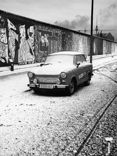 Taken by Romain Mattei. A photo I took a whiiiile ago, even before having a DSLR!! I shot this pic with a Sony DSC-H2 (Bridge).  I really like the composition here, all the icons of the East Germany were in there (Fernseher Turm, Trabi, Berlin Wall) and some snow to wrap up the whole thing :)  Conclusion: something can be done with a 6MPixels Point and Shoot :)
