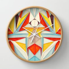 Abstract Visions Wall Clock