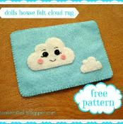 FREE Felt cloud dolls house rug - via @Craftsy