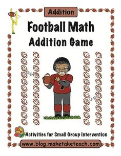 Here's a football themed addition game.