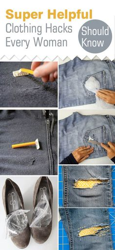These 9 clothing hacks and tips are THE BEST! I'm so happy I found this GREAT post! Now I can save money and keep my favorite outfits! Definitely pinning for later!