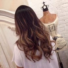 light ash brown ombre on asian hair Long Wavy Hair, Dark Hair, Long Locks, Brown Hair, Ash Brown Ombre, Dark Brown, Blond, Balayage Hair, Balayage Highlights
