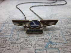 The Vivian Necklace  Vintage Eastern Airlines by SeizeTheNight, $14.00