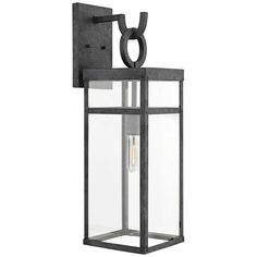 Porter Outdoor Wall Light by Hinkley Lighting - Color: Grey - Finish: Aged Zinc - Outdoor Wall Sconce, Outdoor Wall Lighting, Outdoor Walls, Modern Lighting, Lighting Ideas, Outdoor Garage Lights, Modern Exterior Lighting, Solar Light Crafts, Solar Lights