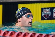 """Olympic Medalist Tyler Clary helped teach kids swimming techniques at one of the """"Coaches vs. Cancer"""" events to help raise money for cancer research"""