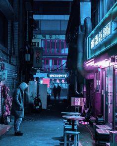 sci fi city / cyberpunk / fantasy / city lights