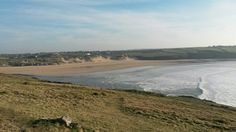 Pentire Headland in Newquay, Cornwall overlooking Crantock beach - perfect place to sit and watch the wildlife Crantock Beach, Newquay Cornwall, Seaside Towns, Sandy Beaches, Perfect Place, Wildlife, England, Watch, Places