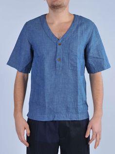GRIFONI Camicia effetto denim http://www.dipierrobrandstore.it/product/2354/Camicia-effetto-denim.html
