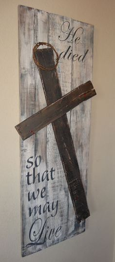 Wood Pallets 40 Faith-Building Lenten Activities - Lent is just around the corner. In an effort to prepare I'm sharing 40 Faith-Building Lenten Activities for you and your families today. Lent is an important time around my house–both … Pallet Crafts, Pallet Art, Pallet Signs, Pallet Ideas, Barn Wood Crafts, Diy Pallet, Bar Outdoor, Outdoor Pallet, Do It Yourself Furniture