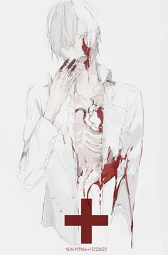 Fanart, Blood Art, Boy Illustration, Arte Horror, Dark Anime, Kawaii, Yandere, Macabre, Dark Art
