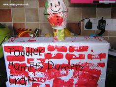 Bring a Nursery Rhyme alive for the youngest students making your own Humpty and a Wall for him to sit in - suitable for later toddlers early preschool up to do