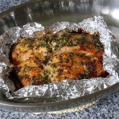 Lachs aus dem Ofen mit Honigkräuterkruste und Porree - Möhren - Curry | Chefkoch.de