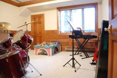"""Here's a little glimpse at the """"music room."""""""