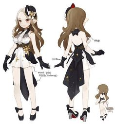 #드래곤네스트# #龙之谷# DN原画师... Dragon Nest Character Costume Design