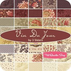 Vin du Jour Charm Pack3 Sisters for Moda Fabrics - Charm Packs & Squares | Fat Quarter Shop
