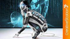 Cyborg Girl - Speed art (#Photoshop) | CreativeStation