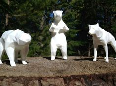 """""""Young and Foolish"""" 3d printed Sculptures   Note: polar bear - created using SHAPEWAY 3D PRINTING - WHAT CAN WE DO WITH THIS TECHNOLOGY?"""