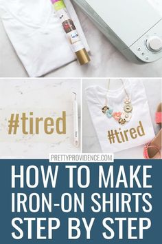 How to make shirts with iron on vinyl and a Cricut machine! This tutorial goes through every step, with photos and a video to help you! Perfect beginners Cricut project. You'll be a pro Cricut shirt maker after this! #cricutbeginners #beginnerscricut #ironon #irononvinyl #htv #irononshirt #cricutshirt #cricutshirtmaker #cricutmaker #cricutexploreair2 #cricutjoy #cricutproject #easycricut #cricuttutorial #htvtutorial #ironontutorial #makeashirt #makeshirts #tshirt #cricutcreated #cricutcrafts How To Make Iron, Cricut Iron On Vinyl, Cricut Tutorials, Cricut Ideas, Cricut Craft, Custom Made Shirts, Making Shirts, Shirt Maker, Modern House Design
