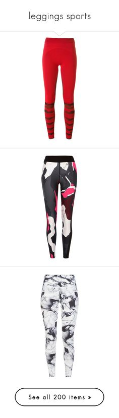 """""""leggings sports"""" by laumariborche ❤ liked on Polyvore featuring activewear, activewear pants, red, nike activewear pants, nike, nike sportswear, nike activewear, logo sportswear, adidas sportswear and adidas"""