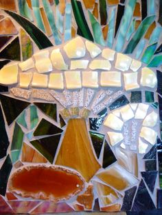 A detail from Andrea Marzo's mosaic for Harlow Carr, lovely use of materials