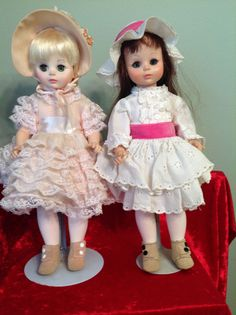 2 Vintage Madame Alexander Dolls Renoir and Degas 13""