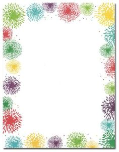 this computer printer paper stock features a blue border with fun fireworks the 8 x stationery paper runs smoothly through inkjet printers laser printers