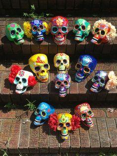 Day of the Dead - Painted sugar skull - skull sculpture - custom made - Dia de los Muertos - hand painted - offbeat bride - Halloween decor Sugar Skull Crafts, Sugar Skull Art, Sugar Skulls, Day Of The Dead Party, Day Of The Dead Skull, Mexican Skulls, Mexican Art, Halloween Fun, Halloween Decorations
