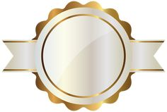 White Label with Gold PNG Clipart Image