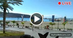 Do you want to visit #Tenerife? Do it now through these live images from Playa de Los Cristianos! #Travel #Spain #Espana