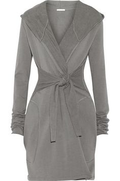 Winter Storm brushed cotton-blend fleece robe #dress #offduty #cold #women #covetme #skin