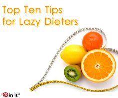 Top ten tps for lazy dieters - Set SMART goals!