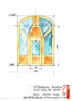 Door design for waldorf school in Pardubice, Czech Republic