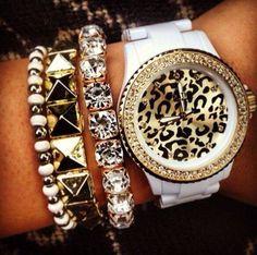 Uhr mit Glitzer