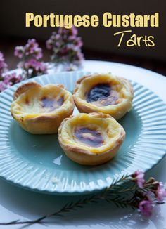 perfect pastry treat for high tea - Portugese Custard tarts Read Recipe by justeasyrecipes Portugese Custard Tarts, Portuguese Custard Tart Recipe, Tart Recipes, Sweet Recipes, Dessert Recipes, Cooking Recipes, Portuguese Desserts, Portuguese Recipes, Portuguese Food