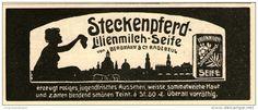 Original-Werbung/ Anzeige 1911 - STECKENPFERD LILIENMILCH-SEIFE - ca. 135 x 50 mm