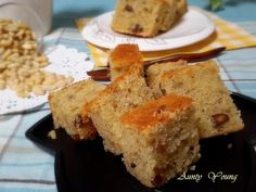 Aunty Young(安迪漾): 香蕉松子牛油蛋糕 (Banana and Pine Nuts Butter Cake)